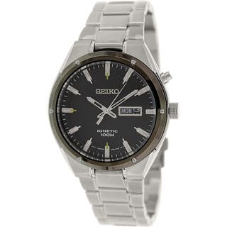 Seiko Men's SMY151 Silver Stainless-Steel Seiko Kinetic Watch https://ak1.ostkcdn.com/images/products/9758879/P16930721.jpg?impolicy=medium