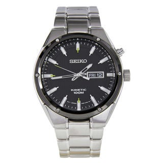 Link to Seiko Men's  Silver Stainless-Steel Seiko Kinetic Watch Similar Items in Men's Watches