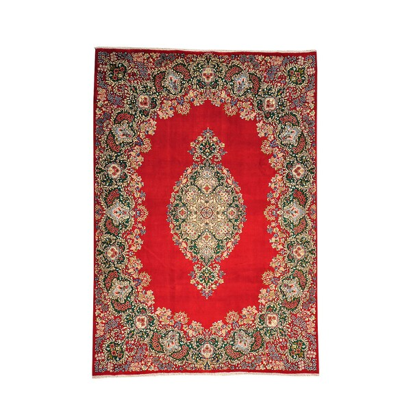 Hand Knotted Persian Style Wool Pile Area Rug: Shop Oriental Hand-knotted Full Pile Signed Wool Area Rug
