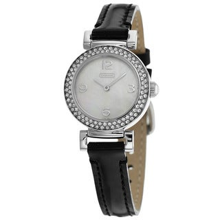 Coach Women's 14501690 Madison Round Black Strap Watch