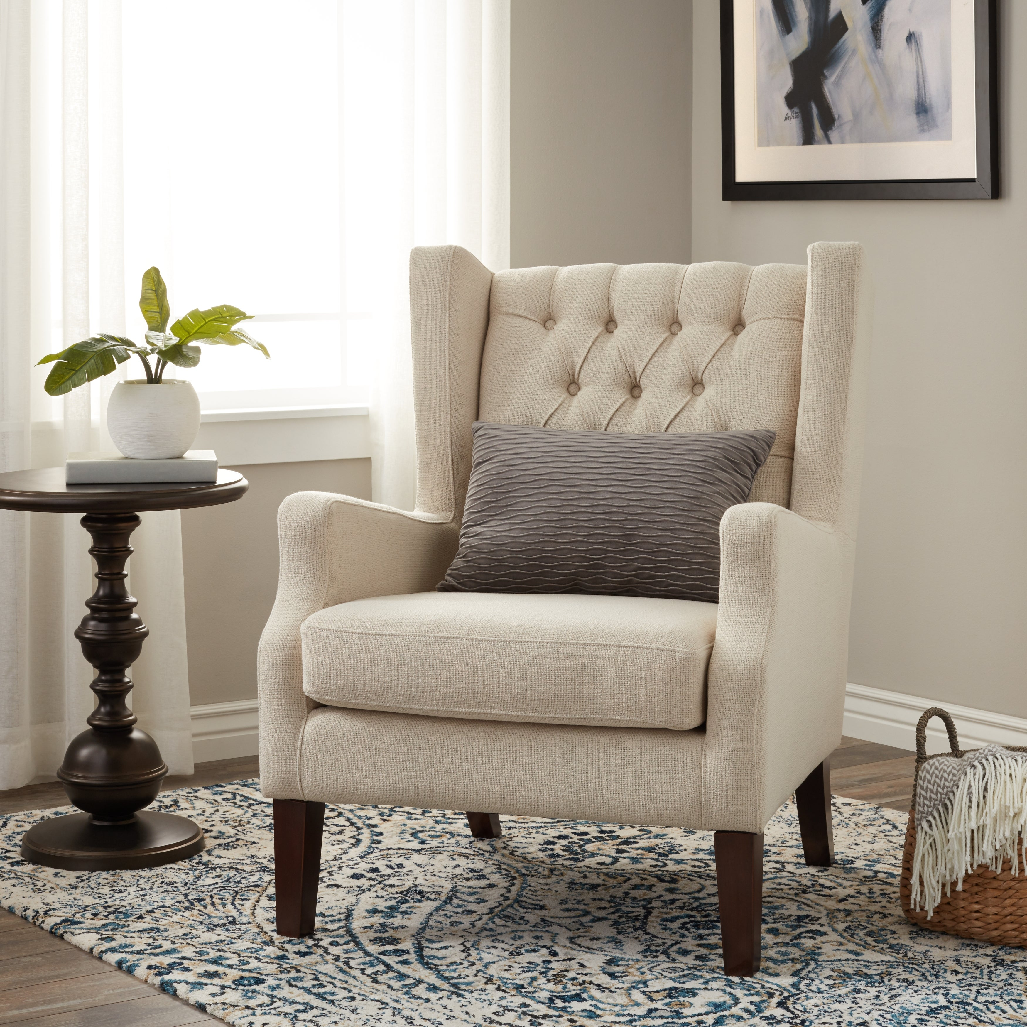 Delicieux Clearance. Stones U0026 Stripes Maxwell Natural Wing Chair