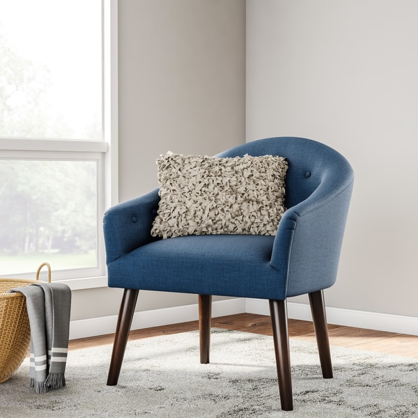Blue Accent Chairs For Living Room.Shop Carson Carrington Camilla Mid Century Navy Blue Accent Chair