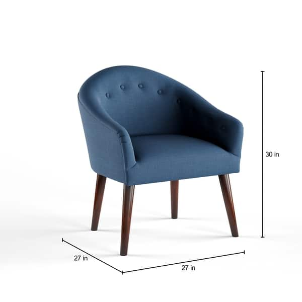 Cool Shop Carson Carrington Camilla Mid Century Navy Blue Accent Andrewgaddart Wooden Chair Designs For Living Room Andrewgaddartcom
