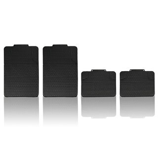 FH Group Black Anti-slip Modern Checker Style All Weather Auto Floor Mats