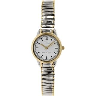 Anne Klein Women's AK-1371WTTT Silver Metal Quartz Watch
