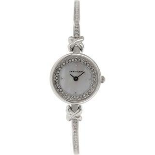 Anne Klein Women's AK-1689MPSV Silver Metal Analog Quartz Watch