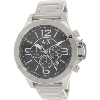 Armani Exchange Men's AX1501 Silvertone Stainless Steel Quartz Watch