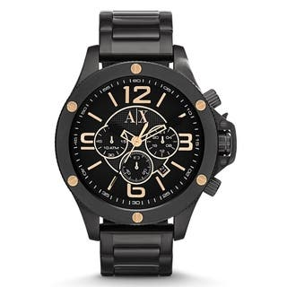 Armani Exchange Men's AX1513 Black Stainless Steel Quartz Watch|https://ak1.ostkcdn.com/images/products/9759101/P16931100.jpg?impolicy=medium
