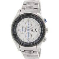 Armani Exchange Men's AX1602 Silvertone Stainless Steel Quartz Watch