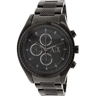 Armani Exchange Men's AX1605 Black Stainless Steel Quartz Watch