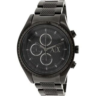 Armani Exchange Men's Black Stainless Steel Quartz Watch
