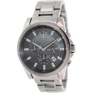 Armani Exchange Men's AX2092 Black Stainless Steel Quartz Watch|https://ak1.ostkcdn.com/images/products/9759114/P16931103.jpg?impolicy=medium