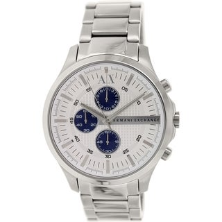 Armani Exchange Men's AX2136 Silvertone Stainless Steel Quartz Watch