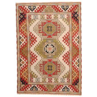 Herat Oriental Indo Hand-knotted Tribal Kazak Wool Rug (5'7 x 8')
