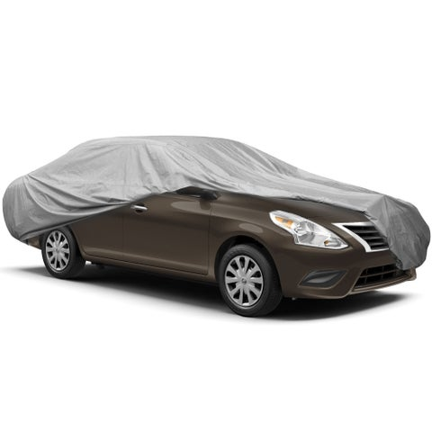 """FH Group Silver Premium Coated Car Cover Fits Cars up to 230"""" (6 sizes)"""