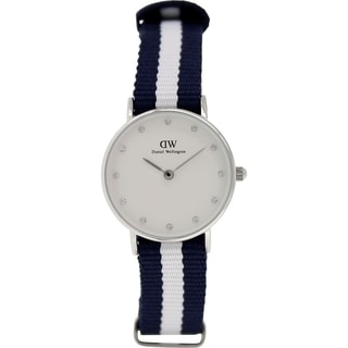 Daniel Wellington Women's Glasgow Silver Nylon Quartz Watch