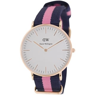 Daniel Wellington Women's Winchester White Nylon Quartz Watch