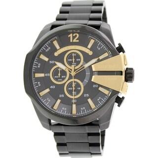 Diesel Men's Black Stainless Steel Quartz Watch