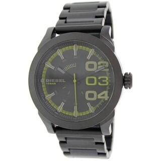 Diesel Men's 'DZ1678' Double Down Black Stainless Steel Quartz Watch