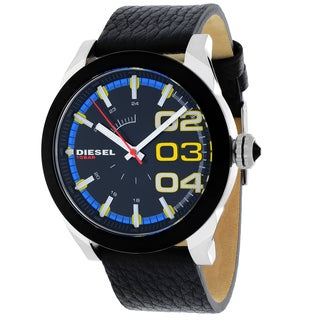 Diesel Men's DZ1677 Double Down Round Black Strap Watch