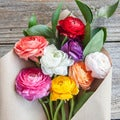 The Bouqs Volcano Collection 'Cake and Cream' Single Ranunculus Bouquet