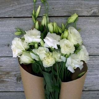 The Bouqs Volcano Collection 'White Knight' Single Lisianthus Bouquet