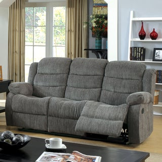 Furniture of America Renn Transitional Chenille Reclining Sofa