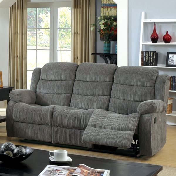 Beau Furniture Of America Aurese Chenille Reclining Sofa