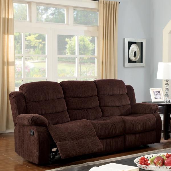 Furniture Of America Aurese Chenille Reclining Sofa
