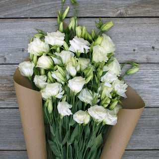 The Bouqs Volcano Collection 'White Knight' Deluxe Lisianthus Bouquet