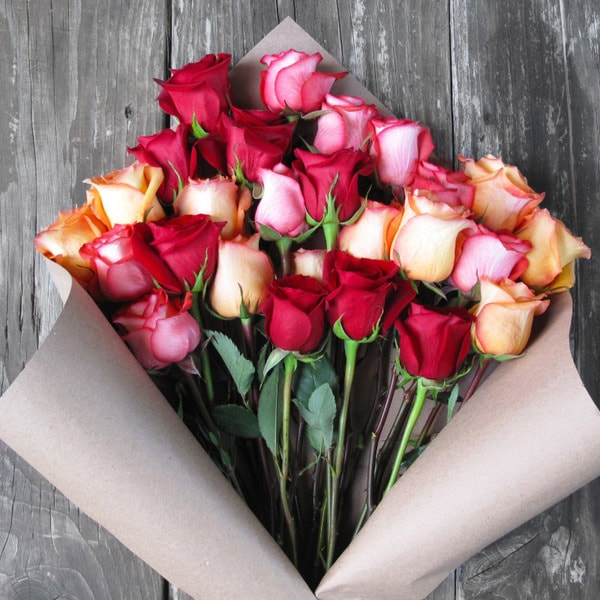 The Bouqs Volcano Collection 'Sunfire' Deluxe Rose Bouquet
