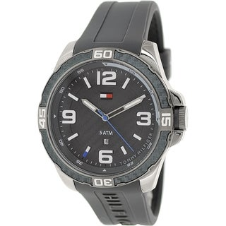 Tommy Hilfiger Men's 1791089 Grey Silicone Analog Quartz Watch