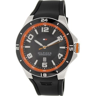 Tommy Hilfiger Men's 1790861 Black Silicone Analog Quartz Watch