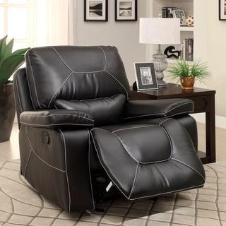 Furniture of America Frasien Modern Bonded Leather Recliner