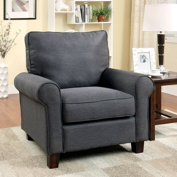 Shop Furniture Of America Kerra Modern Flax Club Chair
