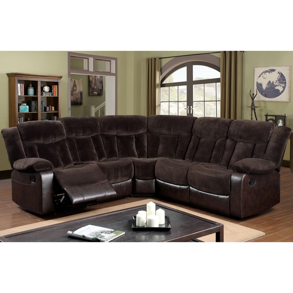 American Leather Sofas Reviews: Shop Furniture Of America Karl 2-Tone Brown Theatre