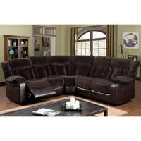 Furniture of America Karl 2-Tone Brown Theatre Reclining Sectional