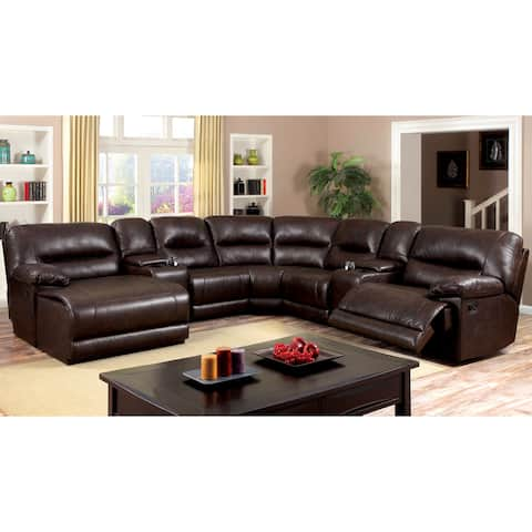 Furniture of America Gass Transitional Brown 7-piece Sectional