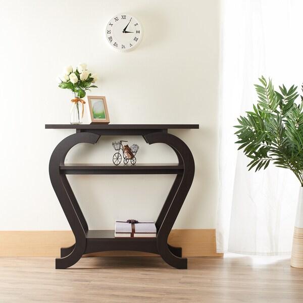 Furniture Of America Elissile Modern Espresso Console Table