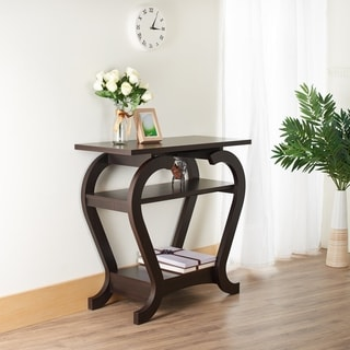 Furniture of America Elissile Modern Espresso Console Table