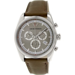 Emporio Armani Men's Sportivo AR6040 Grey Leather Quartz Watch