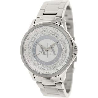Armani Exchange Women's AX4320 Silvertone Stainless Steel Quartz Watch