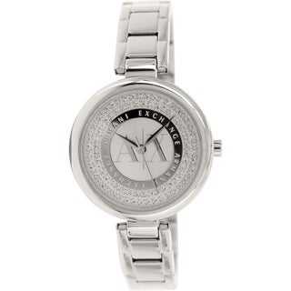 Armani Exchange Women's AX4220 Silvertone Stainless Steel Quartz Watch