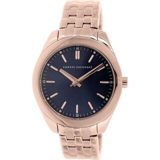Armani Exchange Women's AX5514 Rose Gold Stainless Steel Quartz Watch
