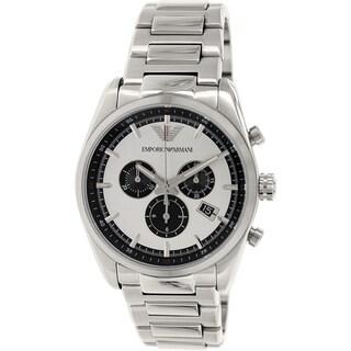 Emporio Armani Men's Sportivo AR6007 Silver Stainless Steel Swiss Quartz Watch