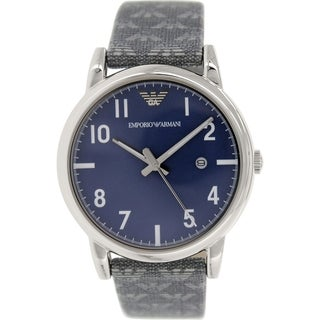 Emporio Armani Men's Classic AR1833 Grey Leather Quartz Watch