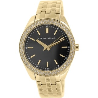 Armani Exchange Women's AX5510 Gold Stainless Steel Quartz Watch