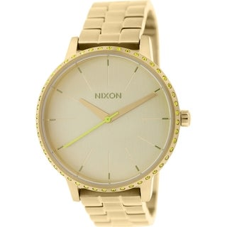 Nixon Women's Kensington A0991900 Gold Stainless-Steel Quartz Watch