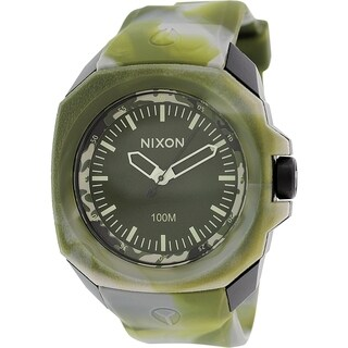 Nixon Men's Ruckus A3491727 Green Silicone Quartz Watch