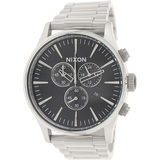 Nixon Men's Sentry A386000 Silver Stainless-Steel Quartz Watch